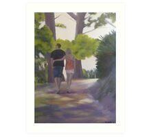 Walking through the forest Art Print