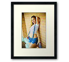 Tina-Overalls-1 Framed Print