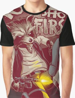 First Shot Parody Graphic T-Shirt