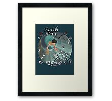 Keepsakes of the Ocean - Earth Day With Date - Bubble cut Framed Print
