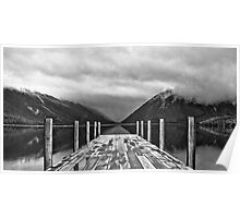 Nelson Lakes black & white Poster