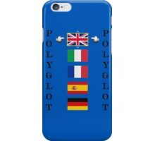 Polyglot language selector iPhone Case/Skin