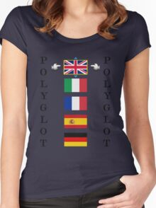 Polyglot language selector Women's Fitted Scoop T-Shirt