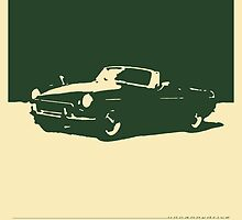 MGB, 1971 - British Racing Green on Cream by uncannydrive