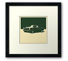 MGB, 1971 - British Racing Green on Cream Framed Print