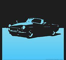 MGB, 1971 - Light Blue on Black by uncannydrive