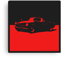 MGB, 1971 - Red on Black Canvas Print