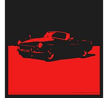 MGB, 1971 - Red on Black Photographic Print