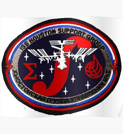ISS Houston Support Group Logo Poster