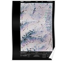 USGS Topo Map Washington State WA Frosty Creek 20110427 TM Inverted Poster