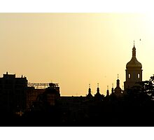 golden domes, golden sky Photographic Print