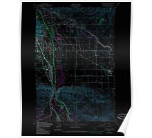 USGS Topo Map Washington State WA Yakima East 244817 1953 24000 Inverted Poster