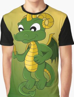 Cute little green dragon cartoon  Graphic T-Shirt