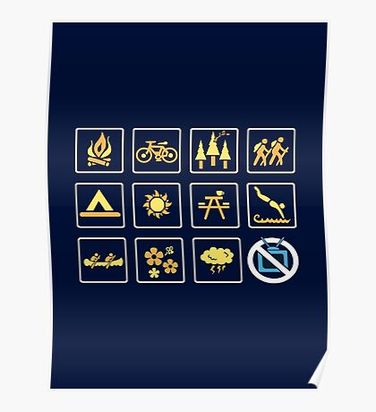 Nature | Nature Design with Outdoor Activity Icons Poster