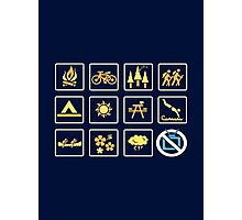 Nature | Nature Design with Outdoor Activity Icons Photographic Print