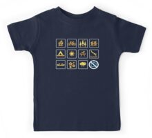 Nature | Nature Design with Outdoor Activity Icons Kids Tee
