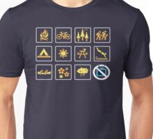 Nature | Nature Design with Outdoor Activity Icons Unisex T-Shirt