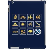Nature | Nature Design with Outdoor Activity Icons iPad Case/Skin