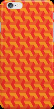 Tangerine Tango Retro Pattern by Juan Cervantes