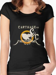Carthage Pachyderms - Light Women's Fitted Scoop T-Shirt