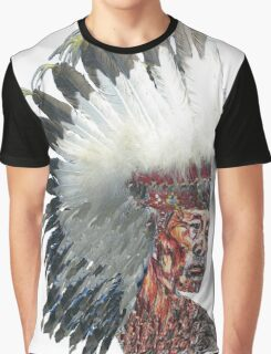 Native American Indian in Headdress  Graphic T-Shirt