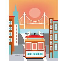 San Francisco, California - Skyline Illustration by Loose Petals Photographic Print