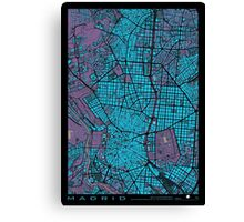 Madrid city map twilight Canvas Print