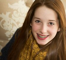 Caitlin With Christmas Braces by Lynne Morris