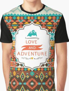 Native american seamless tribal pattern with geometric elements Graphic T-Shirt