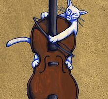 Fiddle Cat Gold by Donna Huntriss