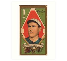 Benjamin K Edwards Collection Matthew McIntyre Chicago White Sox baseball card portrait Art Print