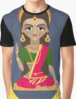 illustration of Hindu deity mother Parvati Graphic T-Shirt
