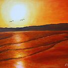Seagulls in the sunset by olivia-art