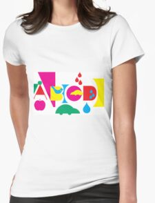 Graphic ABC Womens Fitted T-Shirt