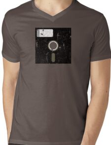 Retro Floppy Mens V-Neck T-Shirt