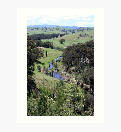 Between Omeo and Bairnsdale Vic Art Print