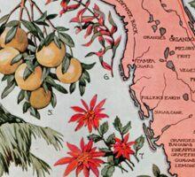 Vintage Map of Florida (1917) Sticker