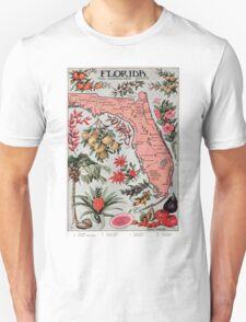 Vintage Map of Florida (1917) T-Shirt