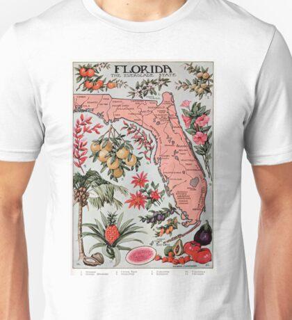 Vintage Map of Florida (1917) Unisex T-Shirt