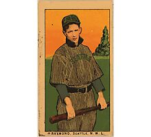 Benjamin K Edwards Collection Raymond Seattle Team baseball card portrait Photographic Print