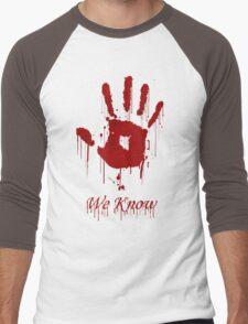 "AWESOME Dark Brotherhood ""We Know"" Men's Baseball ¾ T-Shirt"