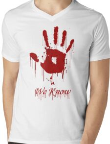 "AWESOME Dark Brotherhood ""We Know"" Mens V-Neck T-Shirt"