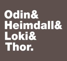 Odin&Heimdall&Loki&Thor. by nimbusnought
