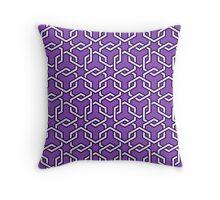 LightPurple Interlocked Hexagon Chains Throw Pillow