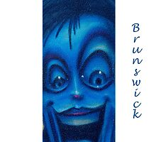 Images of Brunswick #2 Smily Blue Face by Sharon McDowall