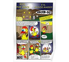 """Rick the chick """"THE MAGIC SHELL (La gallina ha fatto l'uovo) pag 1"""" Poster"""