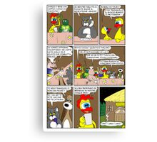 "Rick the chick  ""THE MAGIC SHELL (ITALIANO) parte 26"" Canvas Print"