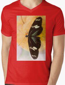 butterffly on fruit Mens V-Neck T-Shirt