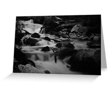 Steavenson Falls II B&W Greeting Card