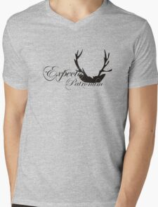 Expecto Patronum Deer Horn Mens V-Neck T-Shirt